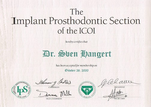 IPS - The Implant Prosthodontic Section of the ICOI
